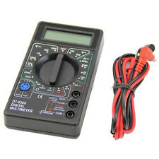 Pocket Digital Multimeter Ohm Voltmeter Ammeter AVO Meter DT830D Test Lead LCD