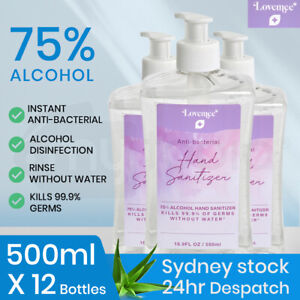 【EXTRA15%OFF】12x 500ml 75% Alcohol Hand Sanitizer Gel Bulk Anti-Bacterial