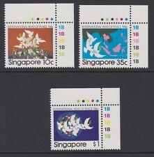 SINGAPORE 1986 International Peace Year complete MINT set sg543-545 MNH