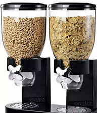 DRY FOOD STORAGE DOUBLE CEREAL DISPENSER CONTAINER DISPENSE MACHINE