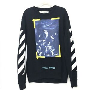 OFF-WHITE OMBA003F17003016 Seeing Things CARAVAGGIO PAINTING Rosary Sweater