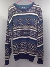 Impact Men Multi Color Hugs And Kisses Long Sleeve  Sweater L C4-10