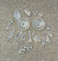 Anciennes pièces pour lustre en cristal pampilles vintage french antique