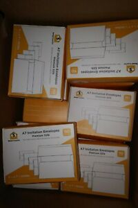 440pcs A7 Invitation Cards Envelopes 5x7 White Envelope Self-Seal Premium 32lb