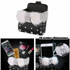 Bling Diamond Car Storage Box Hanging Bag Phone Holder Air Conditioner Outlet photo