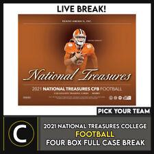 2021 NATIONAL TREASURES колледж футбол 4 коробки перерыв #F766 — выбирайте свою команду