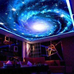 3D Fototapete Galaxy Stars Decke Fresco Kunst Heim Wand Malerei Dekoration