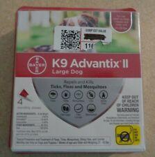 BAYER K9 Advantix II Flea & Tick Treatment for LG DOGS 21-55 LBS, 4 PACK, NEW!