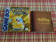 Pokemon Yellow Version - Special Pikachu - Authentic Game Boy Box / Manual Only!