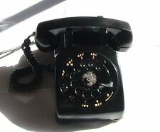 1950'S BLACK PHONE WESTERN ELECTRIC,USA,C3 CASE & METAL DIAL, 4 PRONG 12 FT CORD