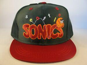 Toddler Size Seattle Supersonics NBA Vintage Snapback Hat Cap Green Burgundy