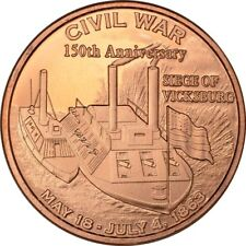 Civil War Series - Siege of Vicksburg    1oz .999 copper round