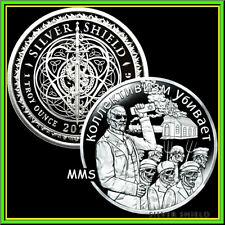 2020 1oz Fauci Fear Proof Silver Shield MicroMintage Virus19 PsyOp ***