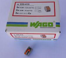 200 Stück 2x4mm² WAGO Dosenklemmen Steckklemmen Hebel für flexible Adern