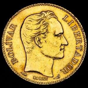*Lucernae* Venezuela.    Gold 20 bolívares. Simon Bolivar Paris 1912.