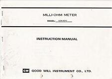 Instruction manual with Schematics for Gw Gom-801G (Good Will )