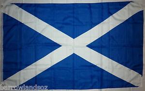 St ANDREW'S CROSS, SCOTLAND NATIONAL FLAG, 152.5cm X 91.5cm (5ft x 3ft)