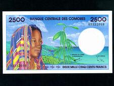 Comores:P-13,2500 Francs,1997 * French Rule * UNC *