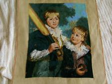 *Baseball Boys * Completed Handmade Needlepoint Canvas