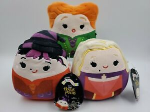 Disney Hocus Pocus SQUISHMALLOWS Sanderson Sisters Stuffed Toy NEW Mini Lot 3