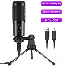 More details for 24bit usb streaming podcast pc microphone studio cardioid condenser mic kit