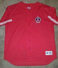 Dynasty Mens Anaheim Angels Jersey XL Red Sewn Halo Logo Mesh MLB Baseball