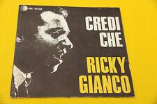 """7"""" SOLO COPERTINA SENZA DISCO RICKY GIANCO 7"""" CREDI CHE ORIG 1966 NM !!!!!!!!!!!"""