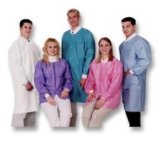 Valumax Extra Safe size L Lab Coat Knee Length 10/pack medical/dental Blue