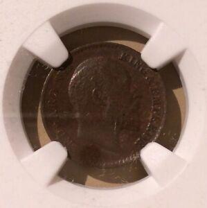 1908 C India 1/12 Anna NGC AU 55 BN - Bronze