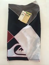 quiksilver board shorts men's size 28 dart 21 inches long color white red print