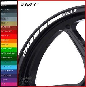 YAMAHA MT Wheel Rim Stickers Decals - 20 Colors - mt01 mt03 mt07 mt09 mt10 mt125