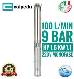 Pompa sommersa per pozzi Elettropompa Calpeda 4SDPM 4/14 1.5 Hp 100 l/min acque