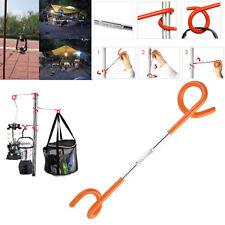 Easy 2-way Light Lamp Lantern Hook Hanger Camping Hunting Fishing Tent Pole Post