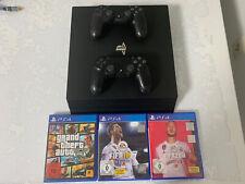 Sony Playstation 4 Pro 1tb Schwarz Konsole Mit 2 Controller Und 3 Spiele