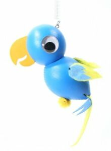 Papagei blau Federtier Schwingfigur Hüpftier Mobile Federfiguren Jumper