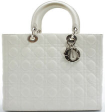 Lady Dior GM Christian Dior Handbag Sac à Main Sac Blanc White Blanc Sac
