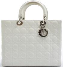 Lady Dior GM Christian Dior Handbag Handtasche Tasche weiss white blanc Sac
