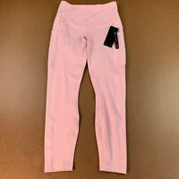 Reflex Women's Size Small Pink High Rise Side Pocket Ankle Length Leggings NWT