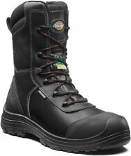 Dickies TX Pro Safety Boots - Mens Black Leather Work Boot Sizes 6-13 FD7000S