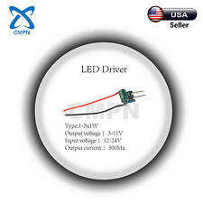 High Power Driver Supply AC 12-24V DC 3-11V 300MA 3W 1-3X1W Constant Current LED