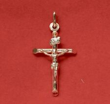 NEW 9ct Yellow Gold Cross 375 Pendant 9K Charm Religious 9KT Christian Christ