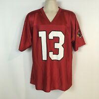 Kurt Warner #13 Arizona Cardinals NFL Team Apparel Jersey Mens L Red Shiny