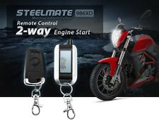 2 Way Motorcycle Alarm System Remote Engine Start Anti-theft Security Alarm LCD