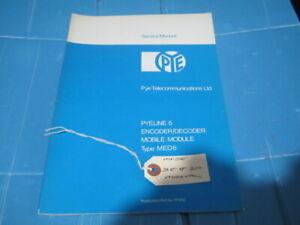 Pye MED6 Amateur Radio Manual Encode / Decode (Reference 36/08/2020)