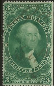 R 85c--$3 CHARTER PARTY REVENUE STAMP -69