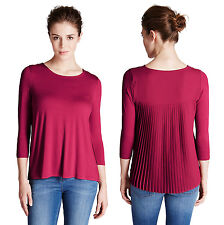 Marks & Spencer Womens Cherry Red Pleat Detail Top New M&S Pleated Back Shirt