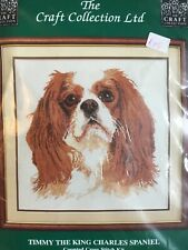 Counted Cross Stitch Kit, Timmy The King Charles Spaniel