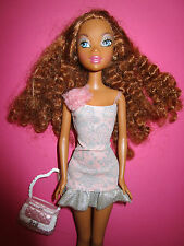 B462-Brune My scene barbie Westley Mattel Original-robe + chaussures + sac