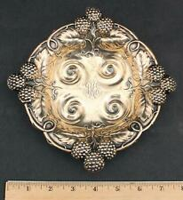 Antique circa-1900 MAUSER American Sterling Silver Raspberry Bowl Dish
