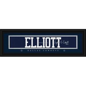 Dallas Cowboys Ezekiel Elliott Print - Signature 8 inch x 24 inch